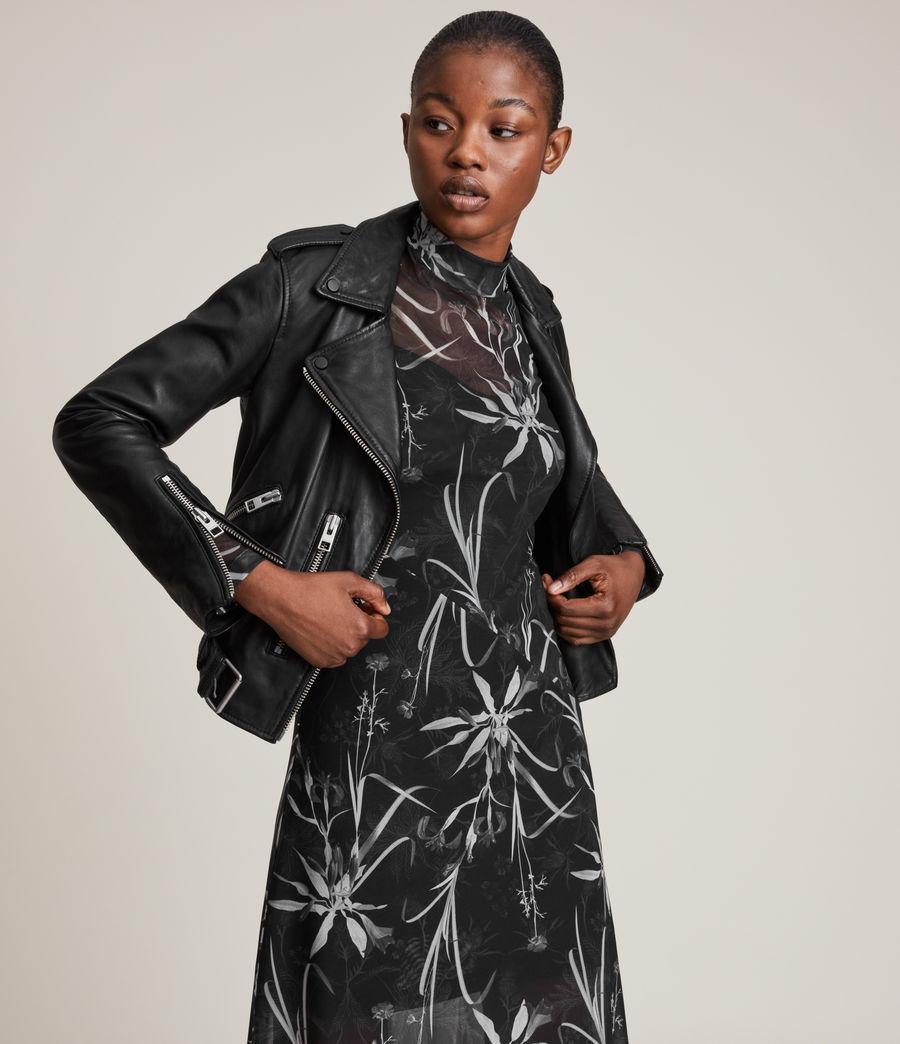 Womens Hanna Rutland Dress (black) - Image 6