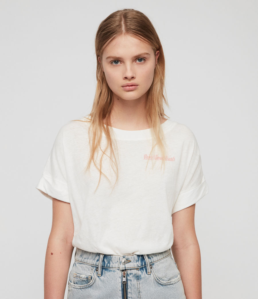 Damen Allgood Imogen Boy T-Shirt (chalk_white) - Image 1