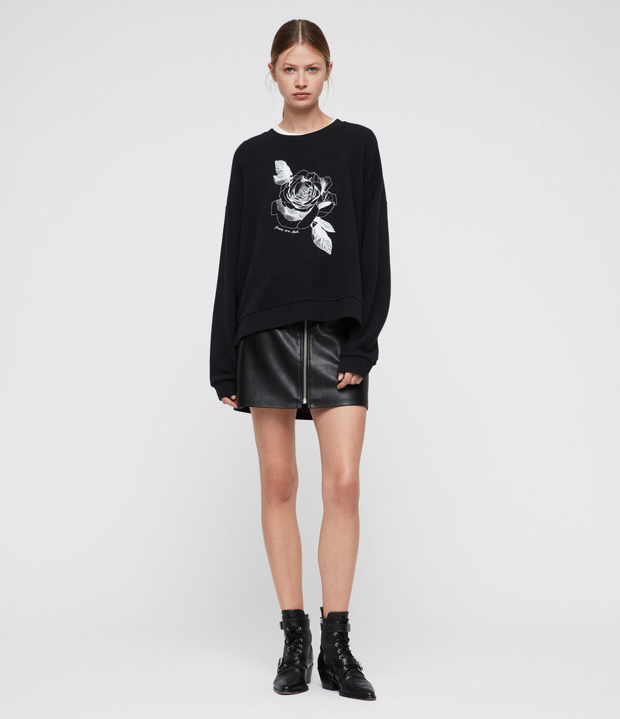 Women's Romy Lo Sweatshirt (black) - Image 1