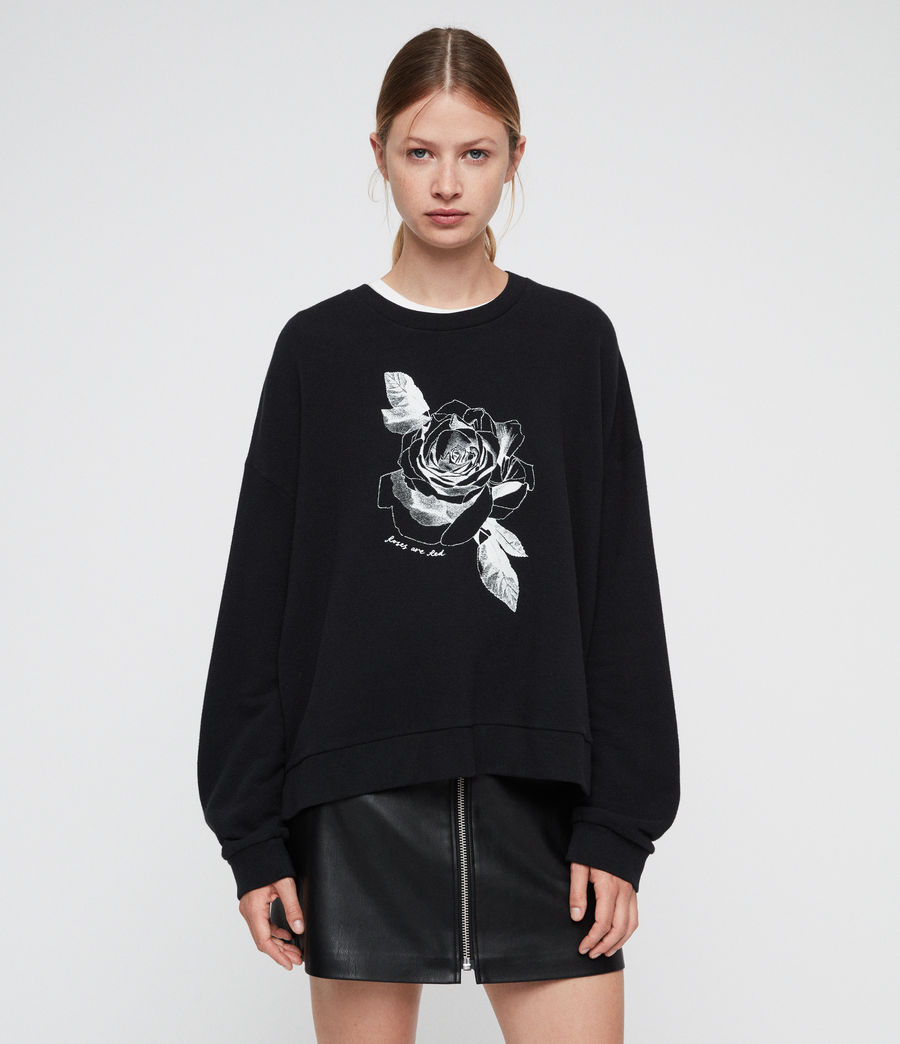 Women's Romy Lo Sweatshirt (black) - Image 3