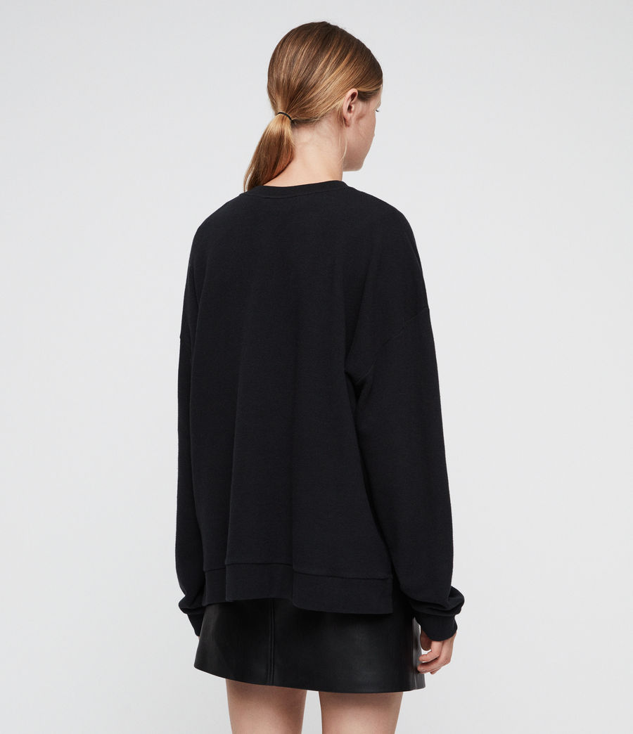 Women's Romy Lo Sweatshirt (black) - Image 4