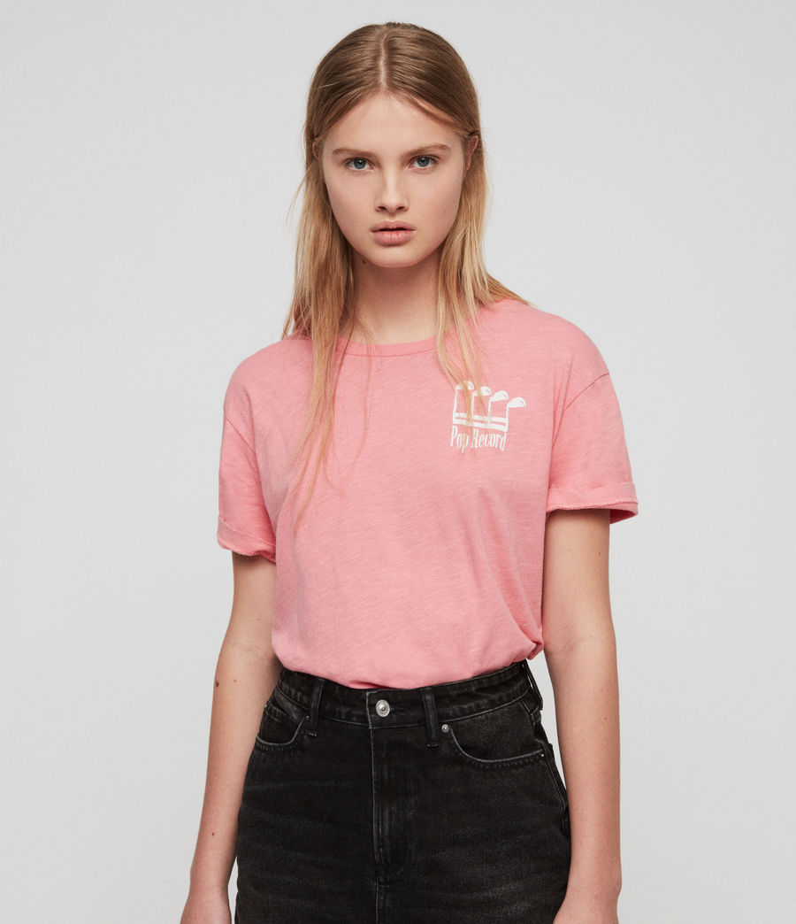 Damen Pop Mic T-Shirt (pink) - Image 1