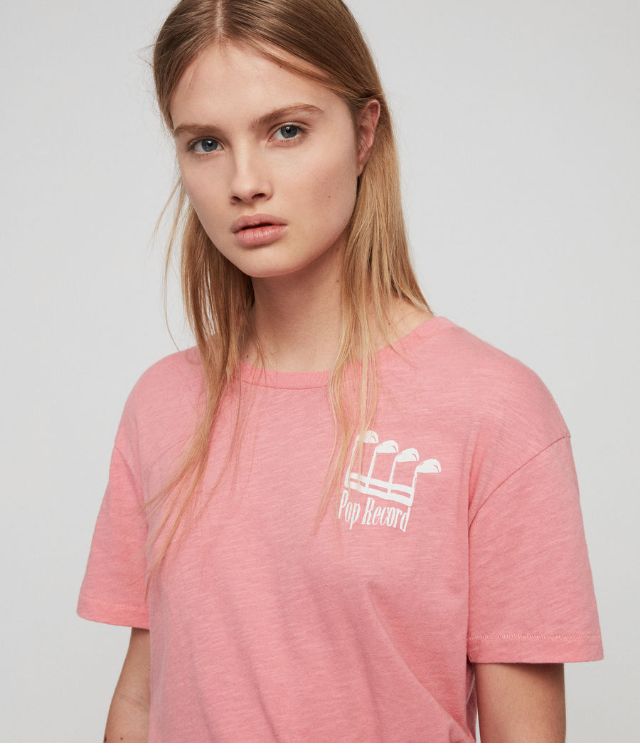 Damen Pop Mic T-Shirt (pink) - Image 2