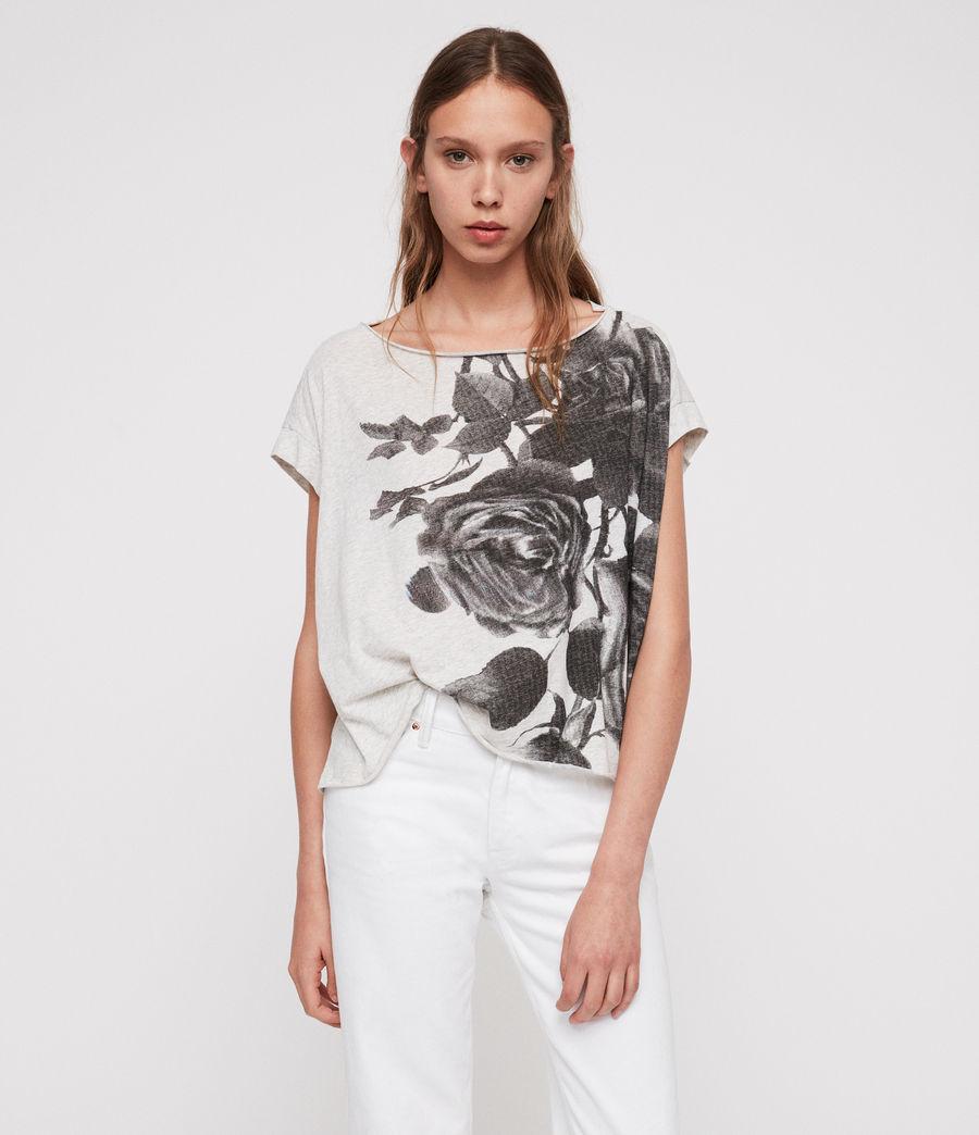 Donne T-shirt Rosen Pina (smog_marl) - Image 1