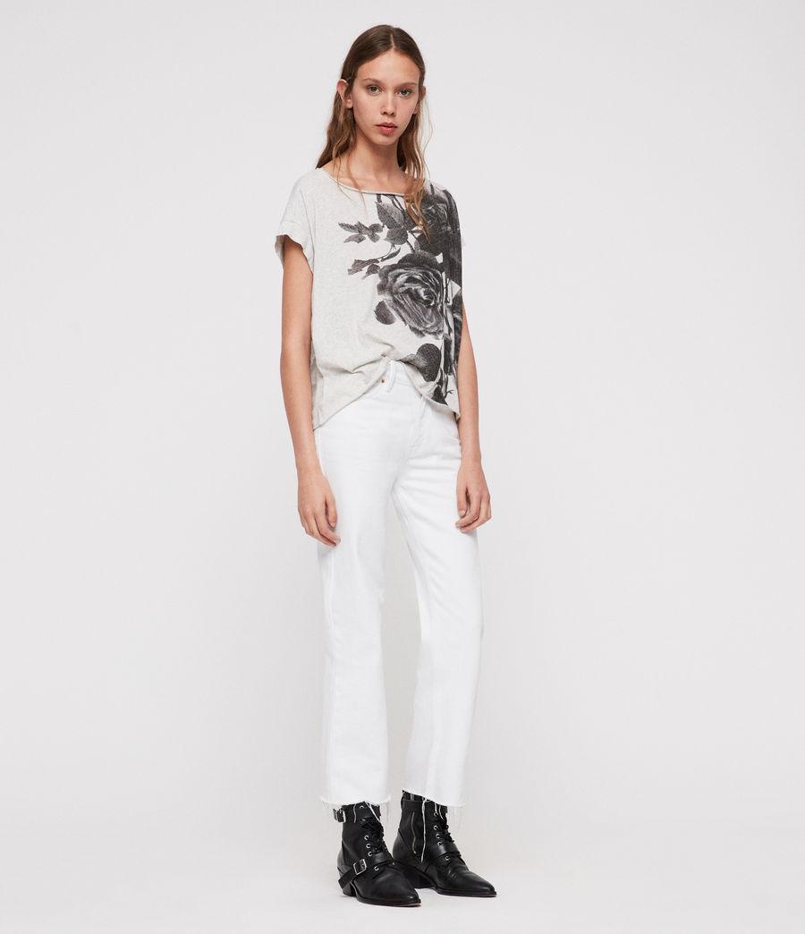 Donne T-shirt Rosen Pina (smog_marl) - Image 2