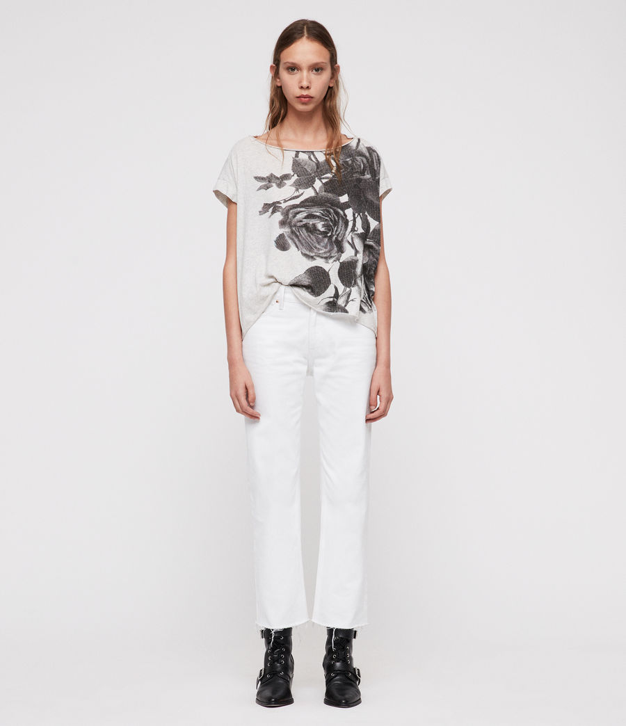 7706cbececc ALLSAINTS IE  Womens Rosen Pina T-Shirt (smog marl)