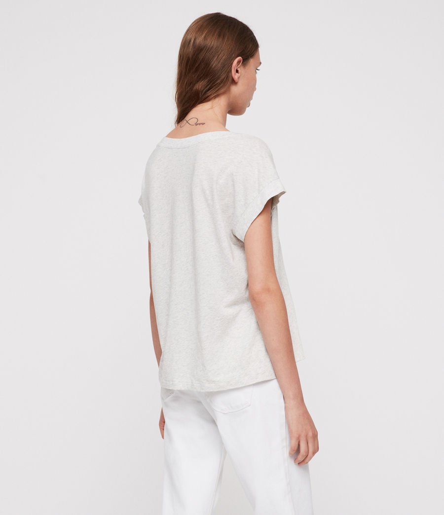 Donne T-shirt Rosen Pina (smog_marl) - Image 4