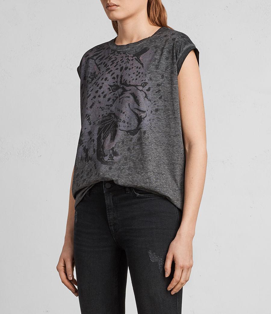 Mujer Camiseta Sabre Brooke (ash_black) - Image 3