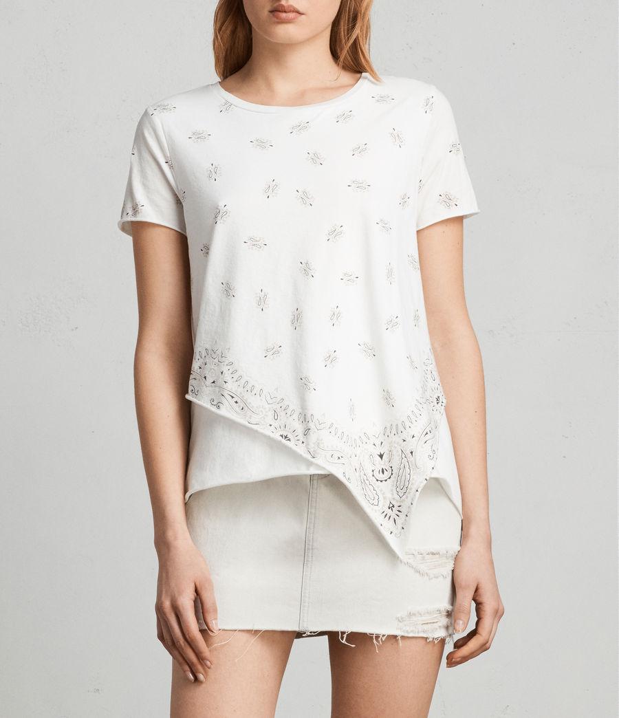 Femmes T-Shirt Daisy Bandana (chalk_white) - Image 1