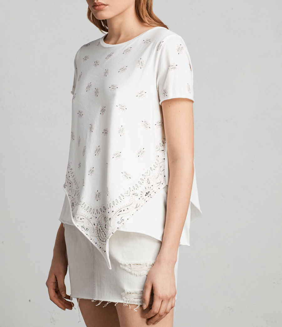 Damen Bandana Daisy T-Shirt (chalk_white) - Image 2