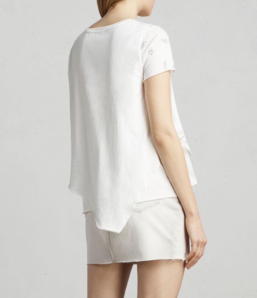 Damen Bandana Daisy T-Shirt (chalk_white) - Image 3