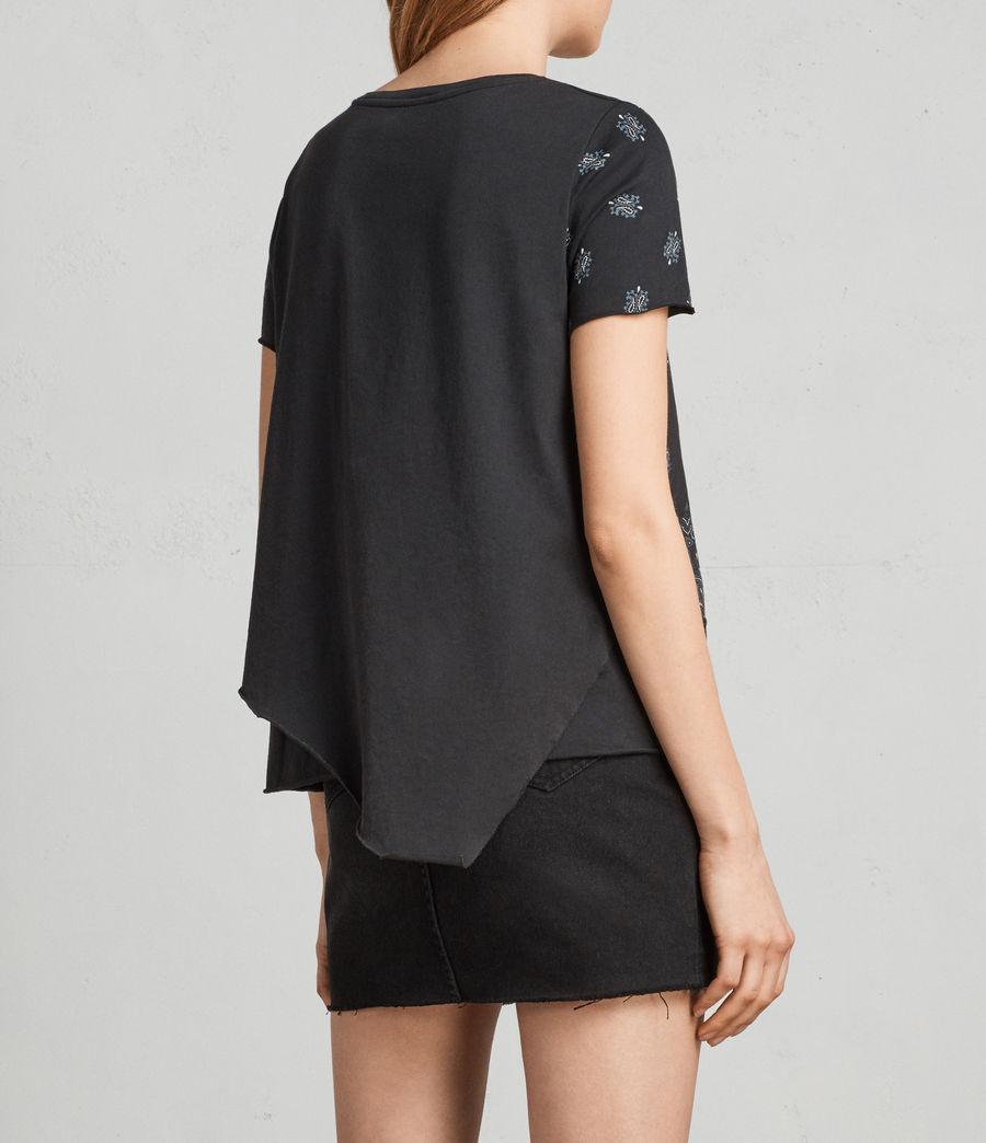 Damen Bandana Daisy T-Shirt (fadeout_black) - Image 4