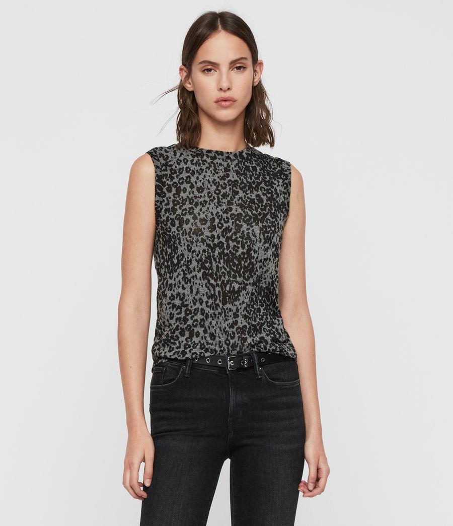 Donne Canotta Imogen Leo - Con motivo leopardato (ash_black) - Image 1