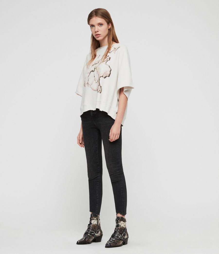Damen Linel Mila Kurzarm Sweatshirt (ivory_white) - Image 1