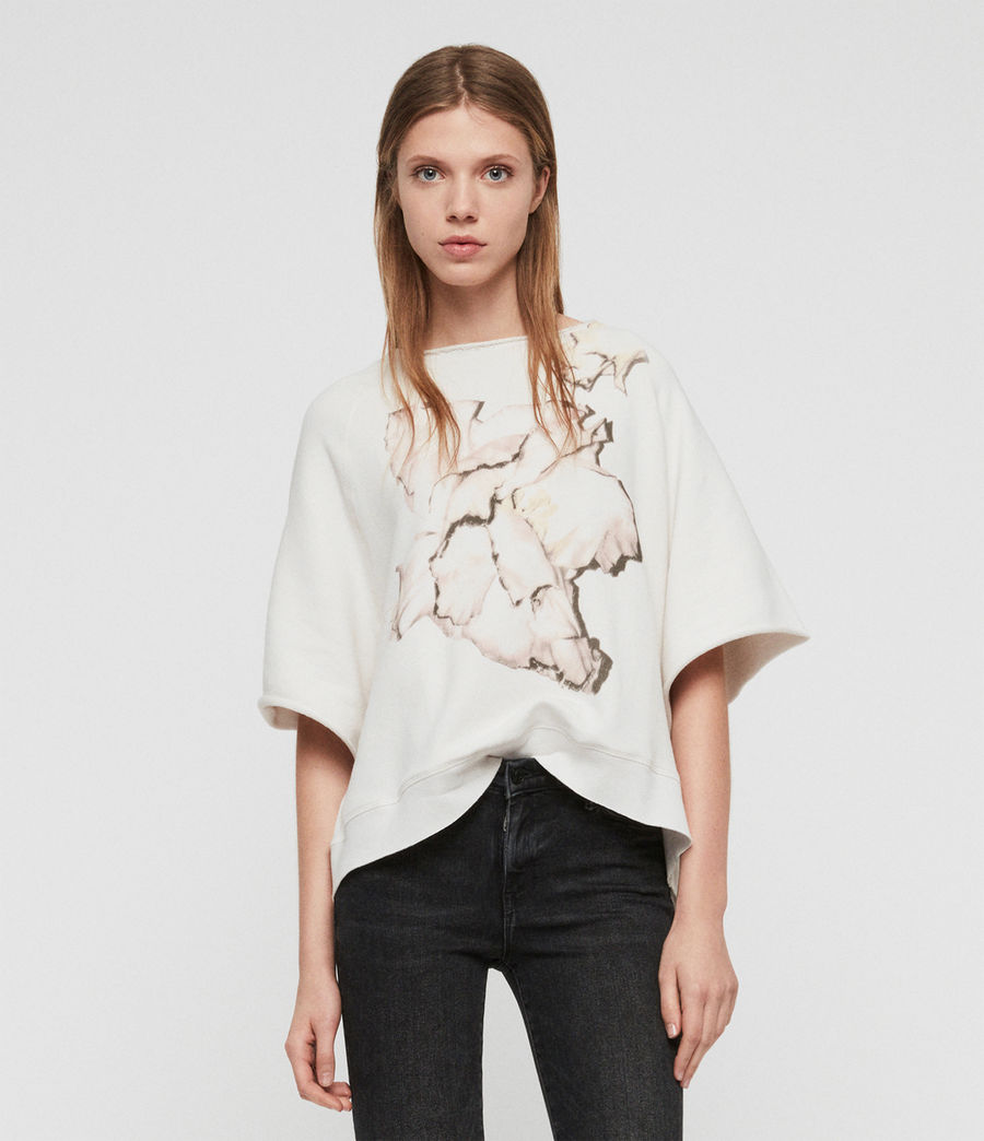 Damen Linel Mila Kurzarm Sweatshirt (ivory_white) - Image 2