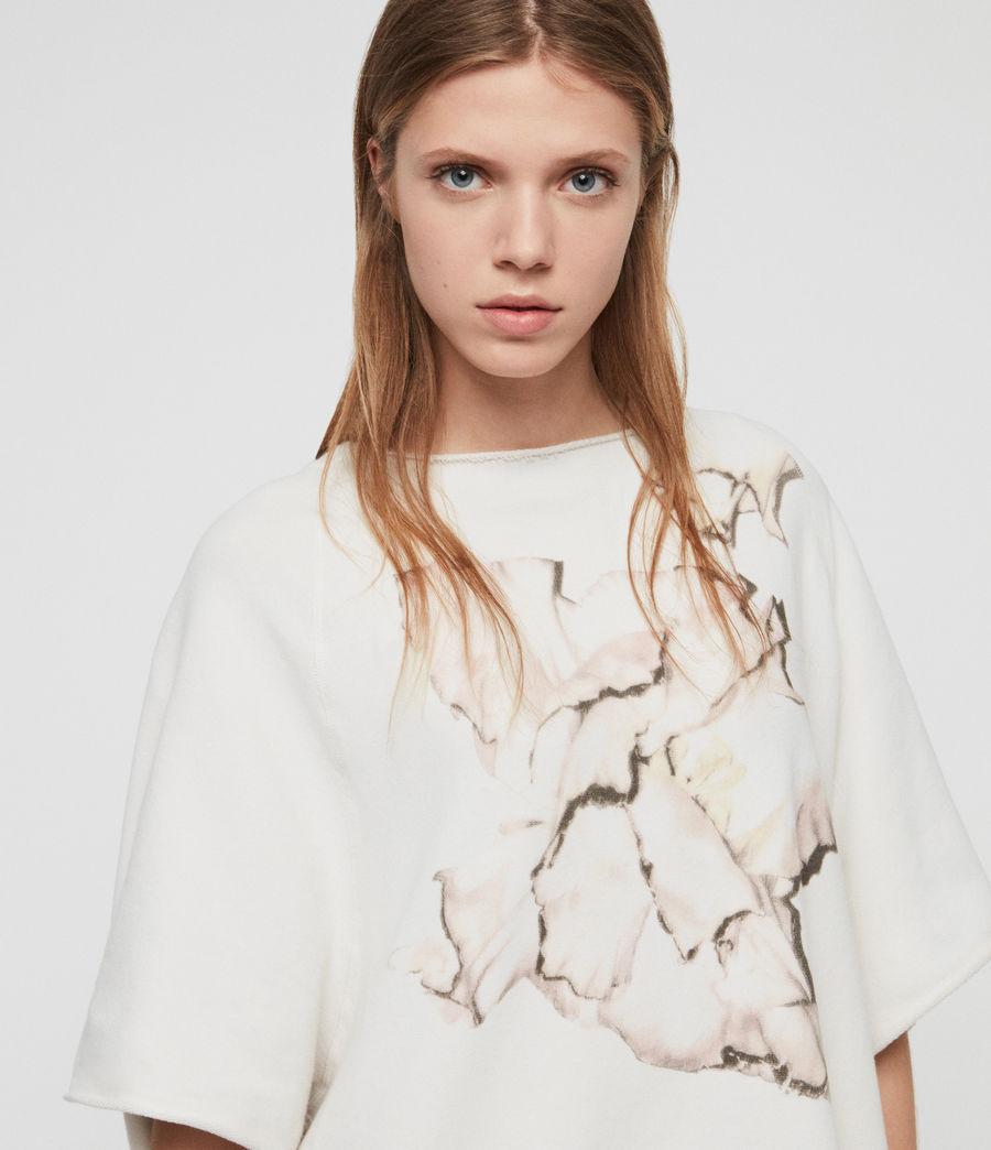 Damen Linel Mila Kurzarm Sweatshirt (ivory_white) - Image 3