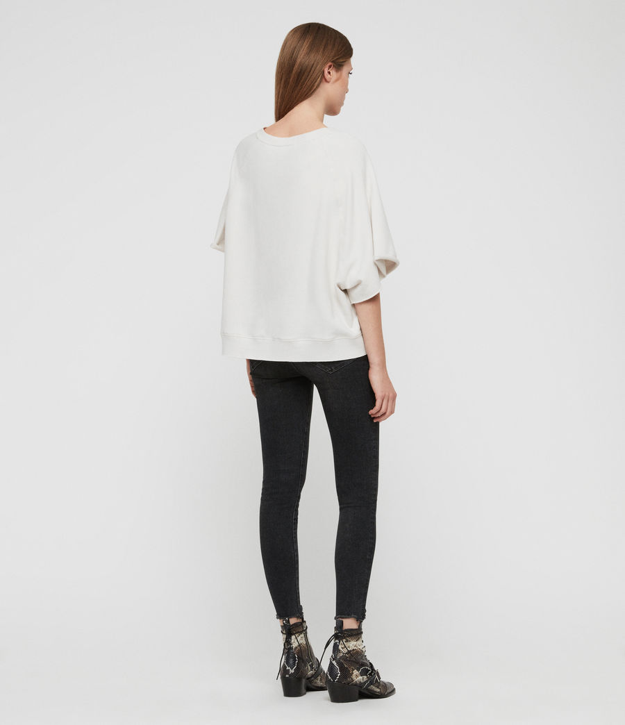 Damen Linel Mila Kurzarm Sweatshirt (ivory_white) - Image 4