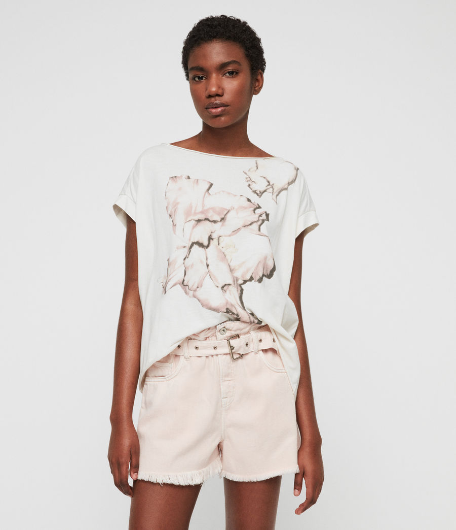 Women's Linel Pina T-Shirt (ivory_white) - Image 1
