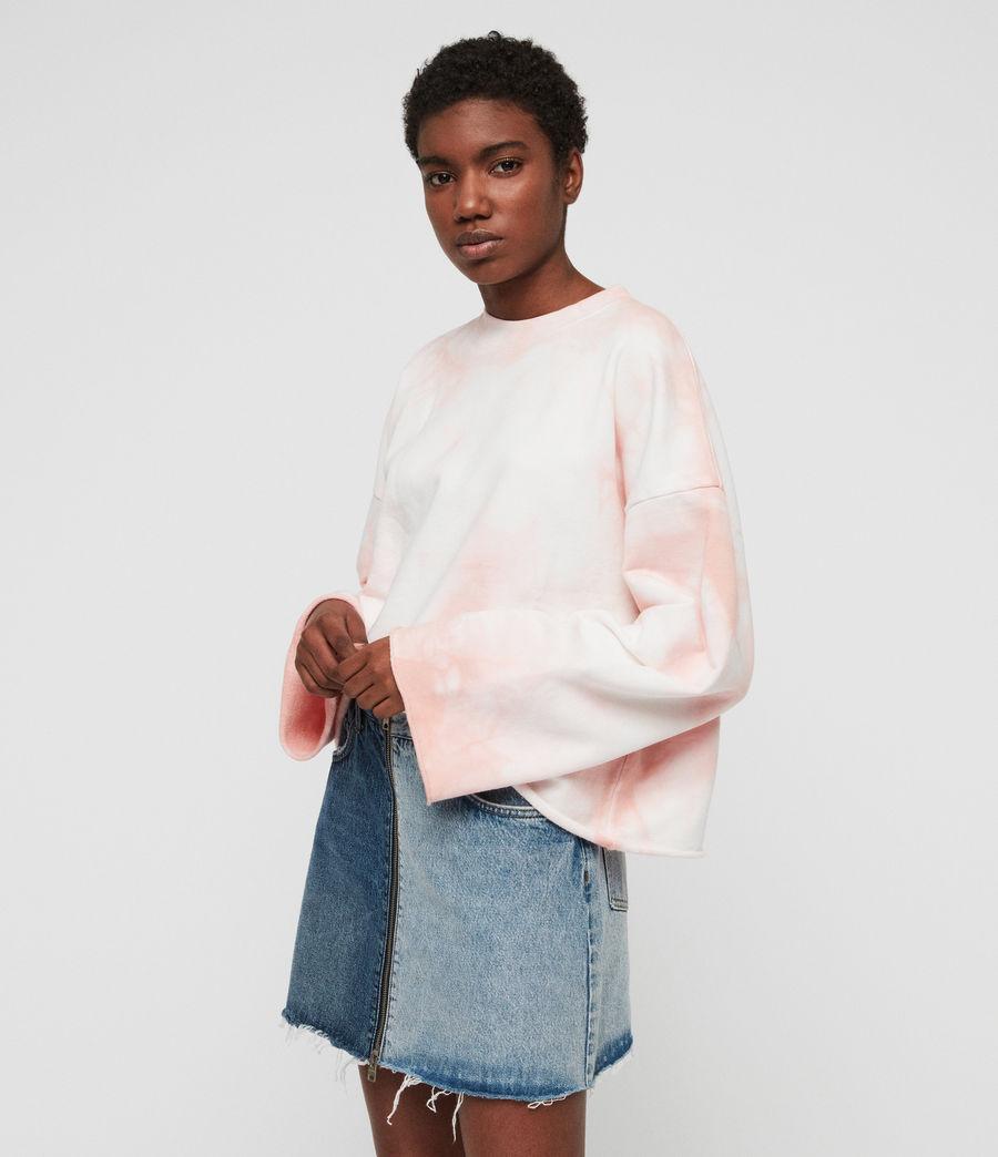 Women's Dyetie Simmi Sweatshirt (pink_chalk_white) - Image 2