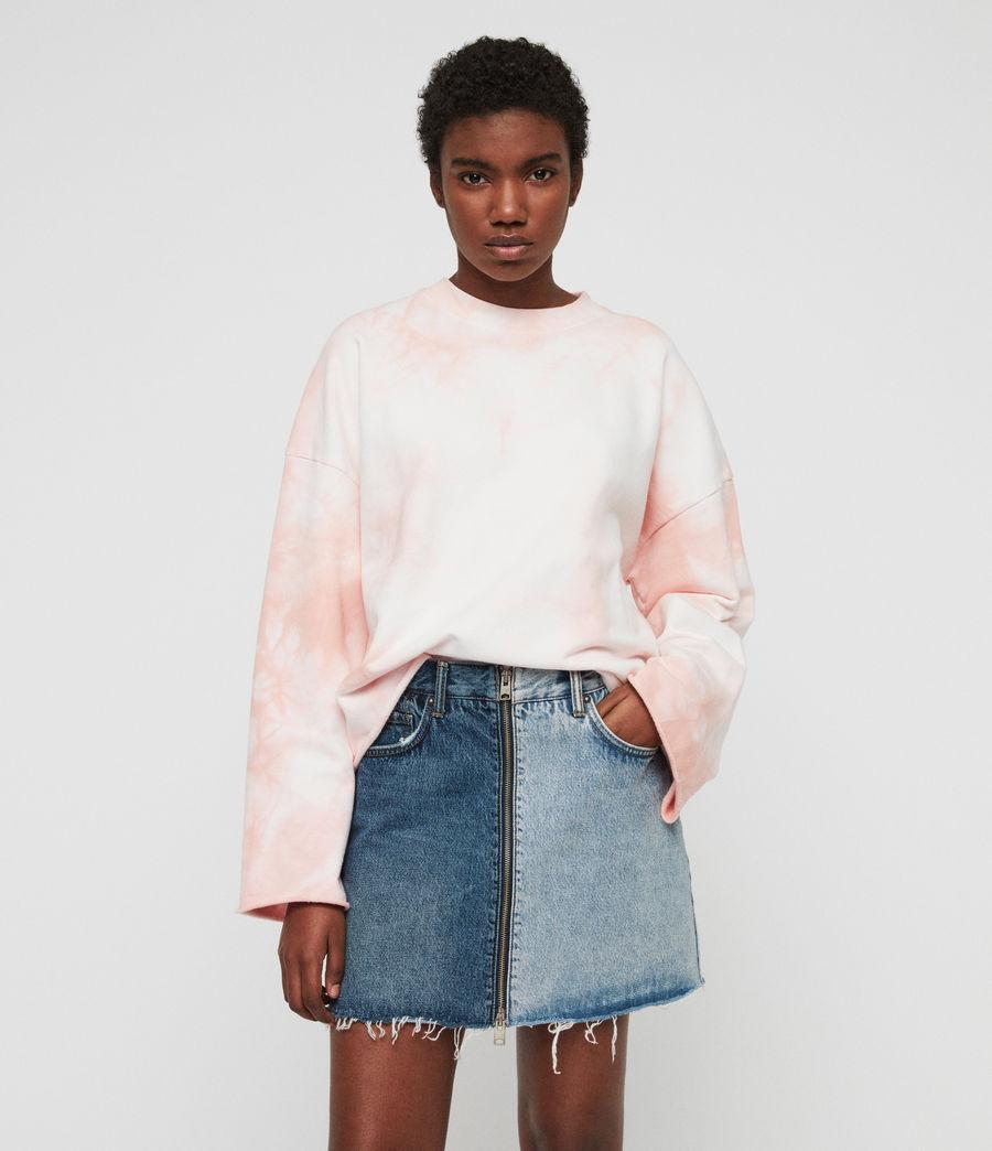 Damen Dyetie Simmi Sweatshirt (pink_chalk_white) - Image 3