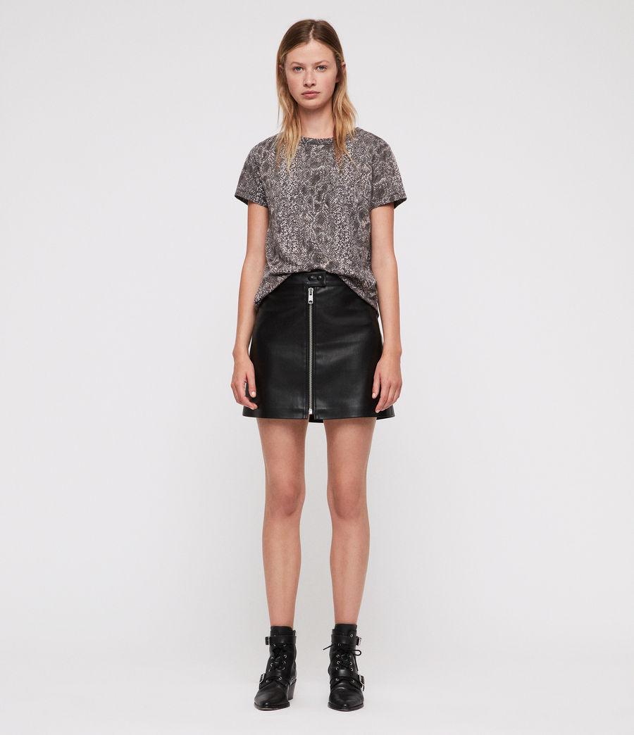 Womens Kaa Joy T-Shirt (fadeout_black) - Image 3