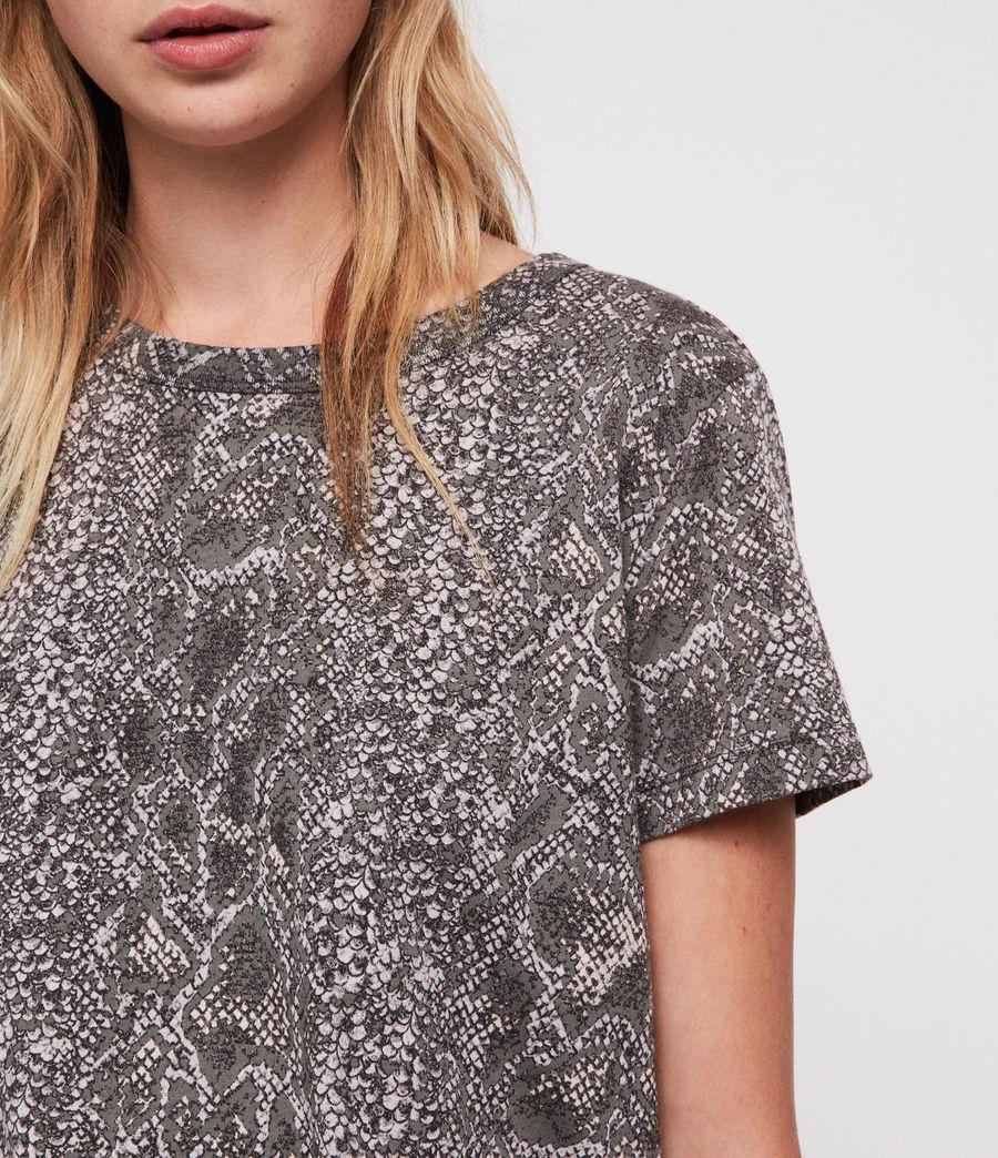 Womens Kaa Joy T-Shirt (fadeout_black) - Image 4