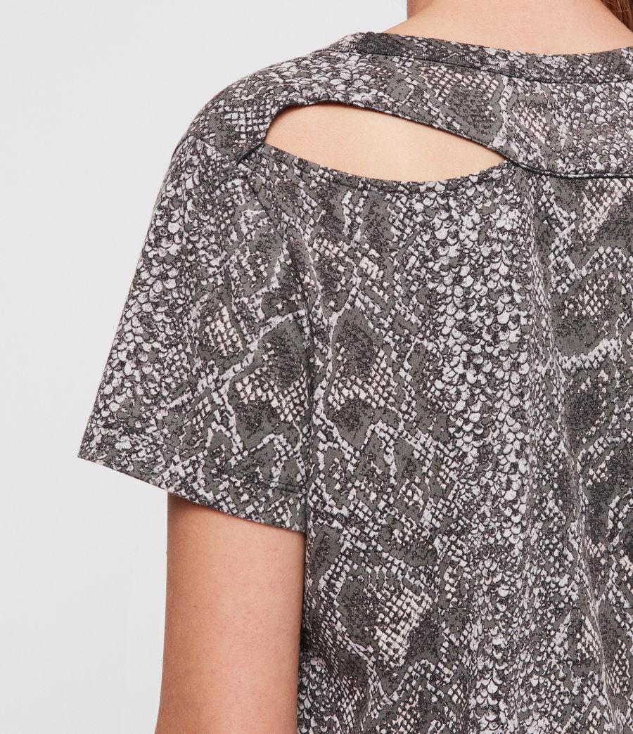 Womens Kaa Joy T-Shirt (fadeout_black) - Image 5