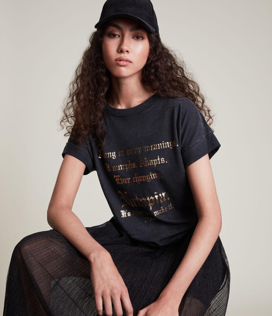 Women's Make It Imogen Boy T-Shirt (vintage_black) - Image 3