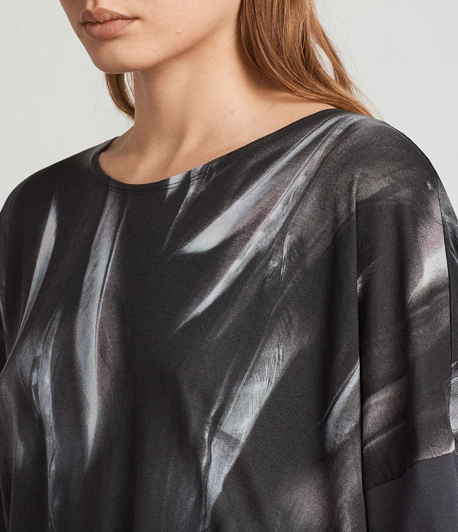 Femmes T-Shirt Plume Tru (washed_black) - Image 2