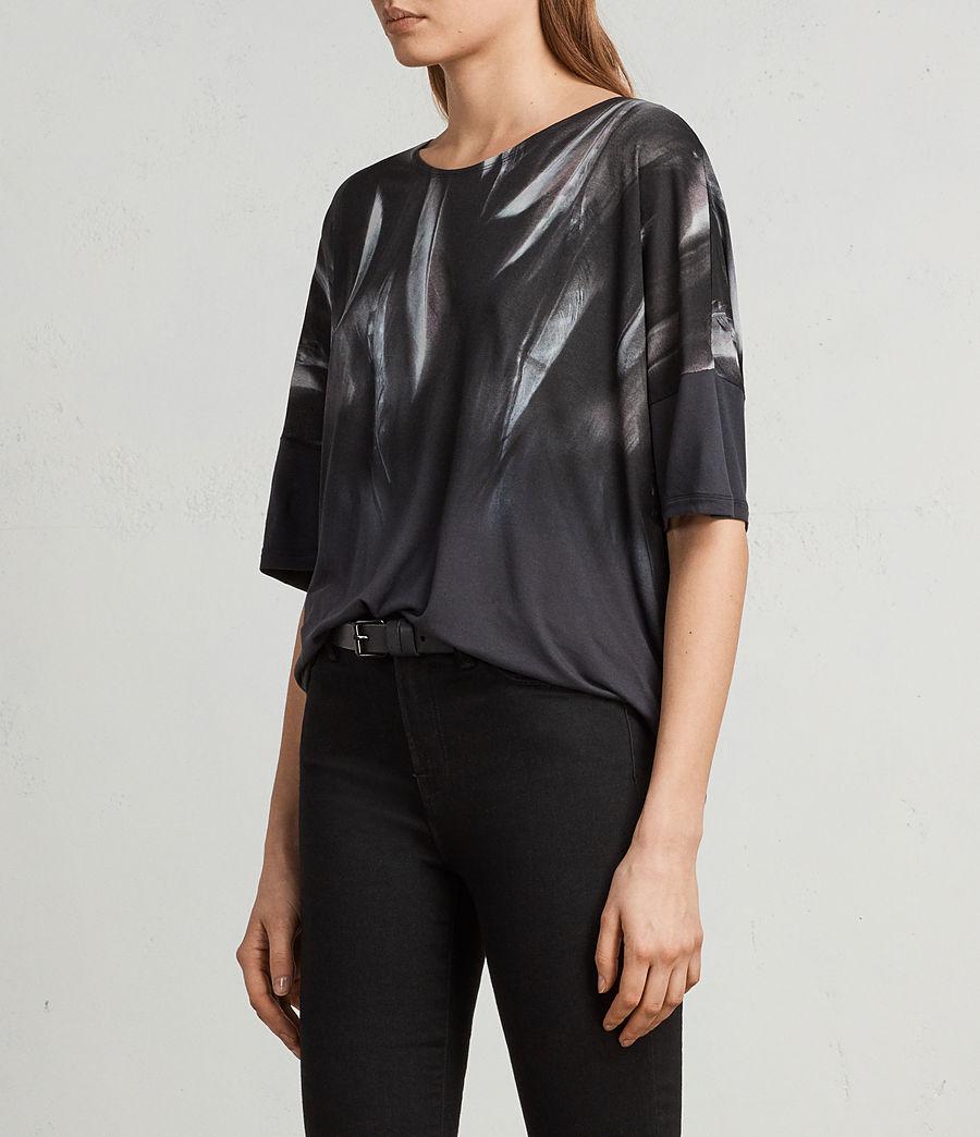 Femmes T-Shirt Plume Tru (washed_black) - Image 3