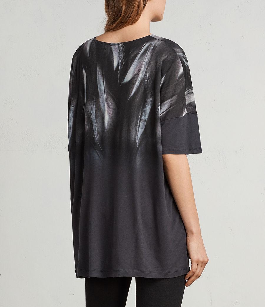 Femmes T-Shirt Plume Tru (washed_black) - Image 4