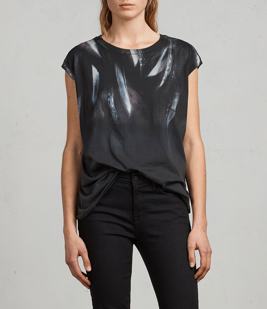 Womens Plume Brooke Tee (fadeout_black) - Image 1