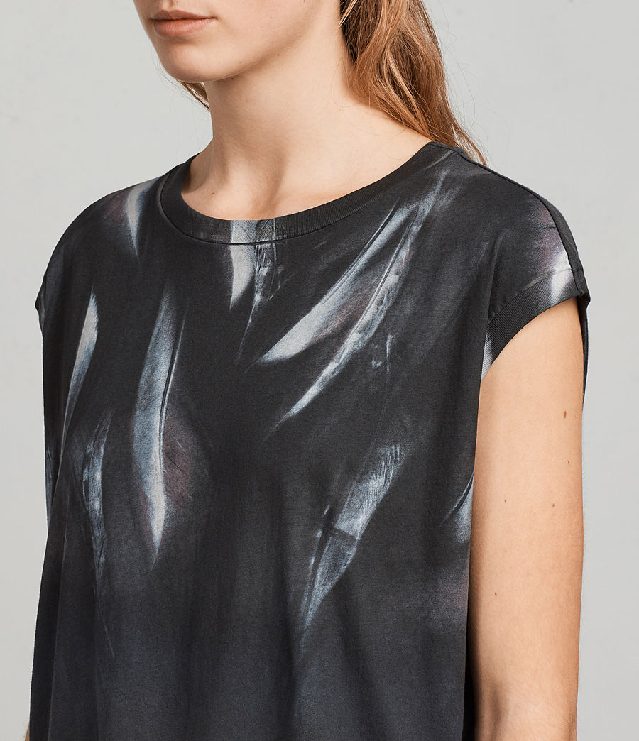 Womens Plume Brooke Tee (fadeout_black) - Image 2