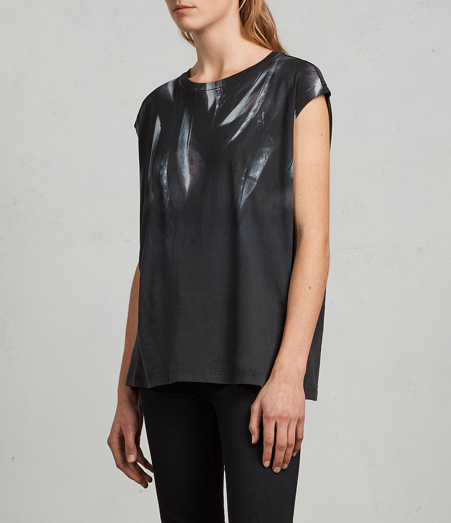 Womens Plume Brooke Tee (fadeout_black) - Image 3