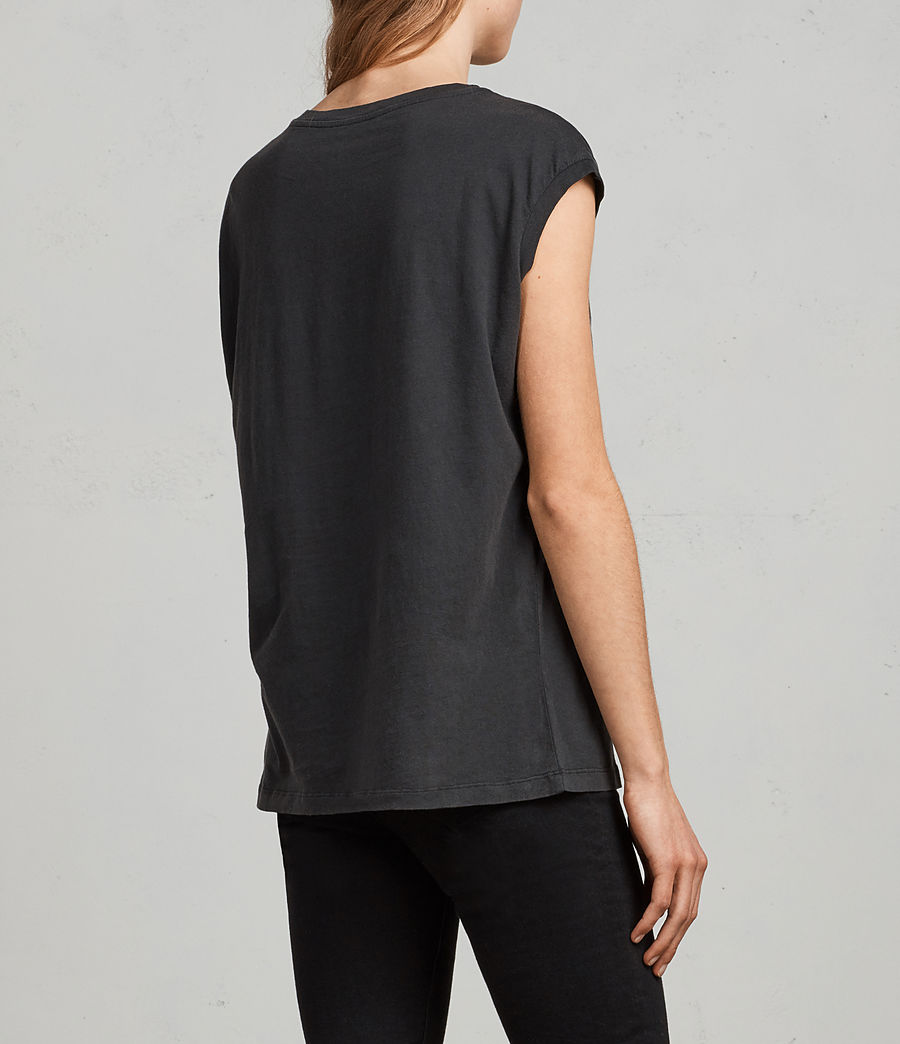 Womens Plume Brooke Tee (fadeout_black) - Image 4