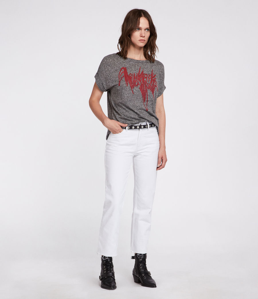 Women's Nyc Imogen Boy T-Shirt (grey_marl) - Image 1