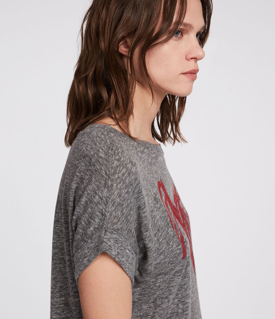 Women's Nyc Imogen Boy T-Shirt (grey_marl) - Image 2
