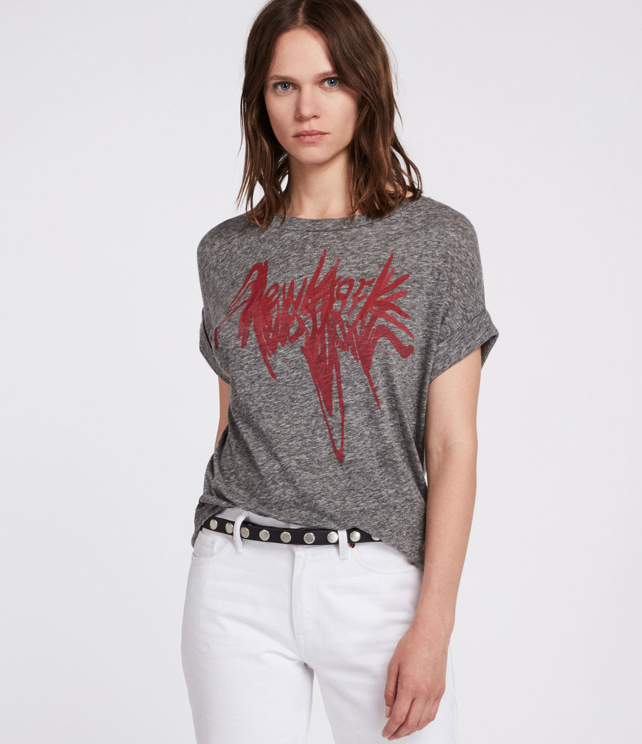 Women's Nyc Imogen Boy T-Shirt (grey_marl) - Image 3