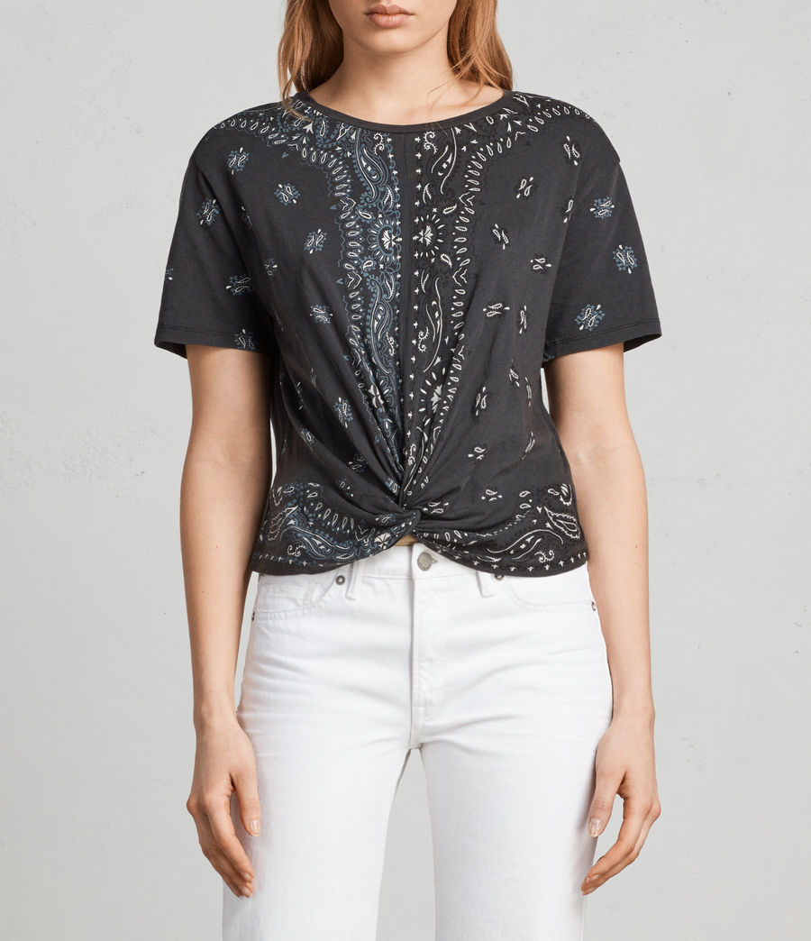 Femmes T-shirt Carme Bandana (fadeout_black) - Image 1