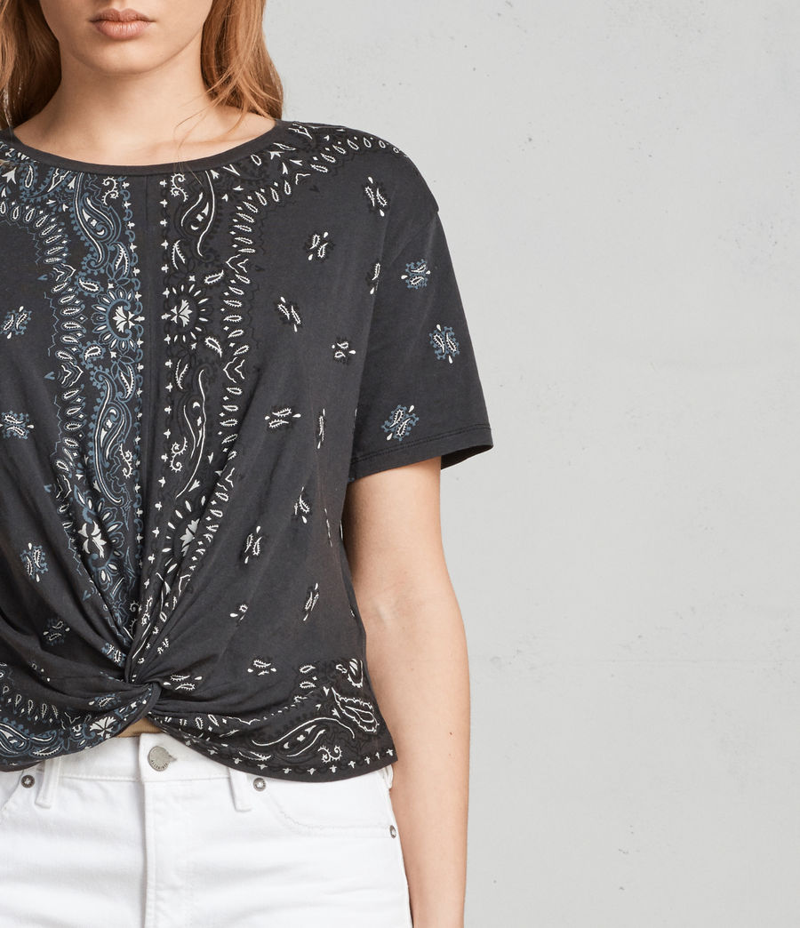 Femmes T-shirt Carme Bandana (fadeout_black) - Image 2