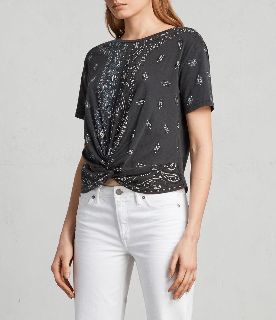 Femmes T-shirt Carme Bandana (fadeout_black) - Image 3
