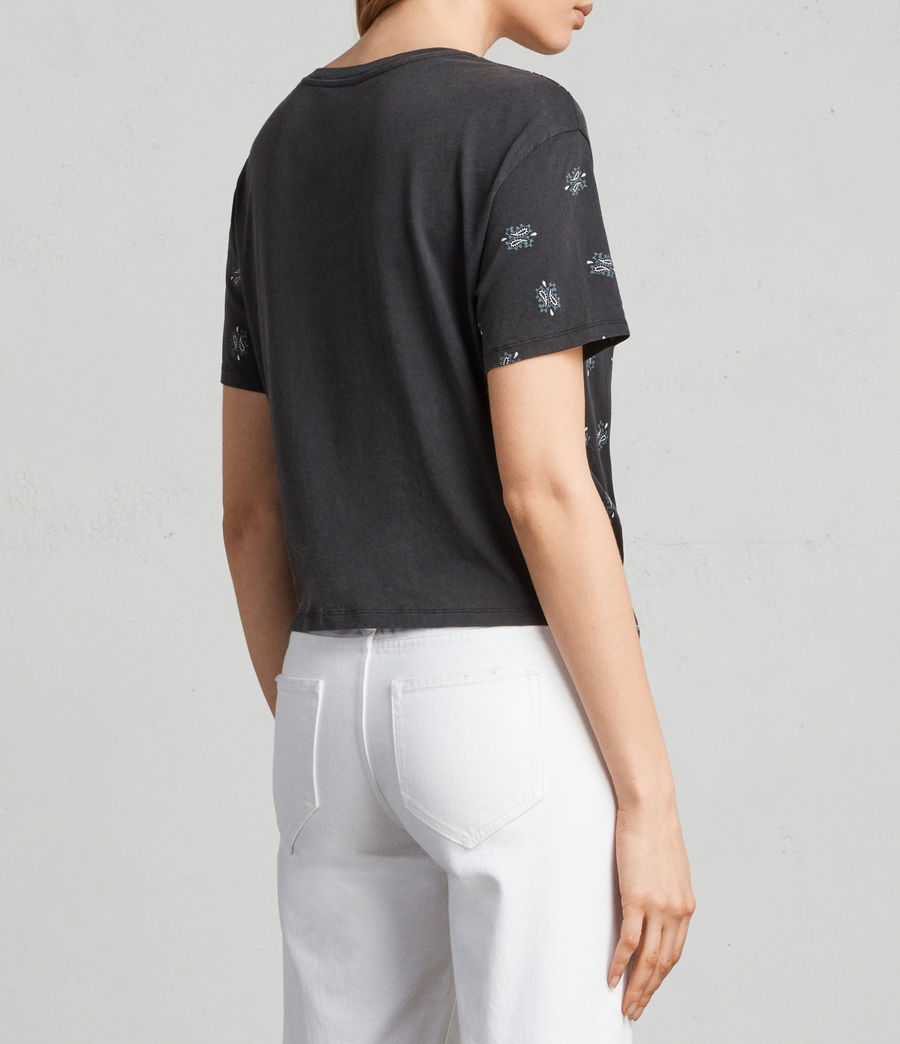 Femmes T-shirt Carme Bandana (fadeout_black) - Image 4