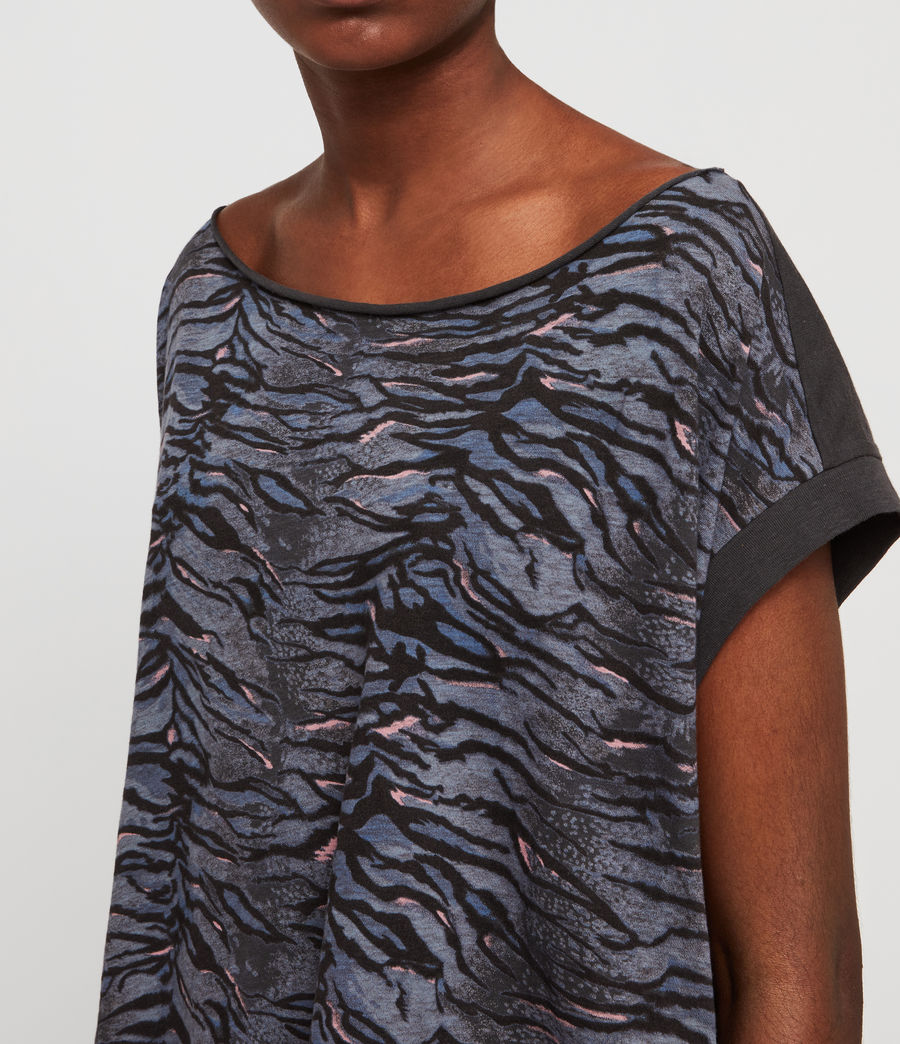 Women's Tygers Pina T-Shirt (washed_black) - Image 4