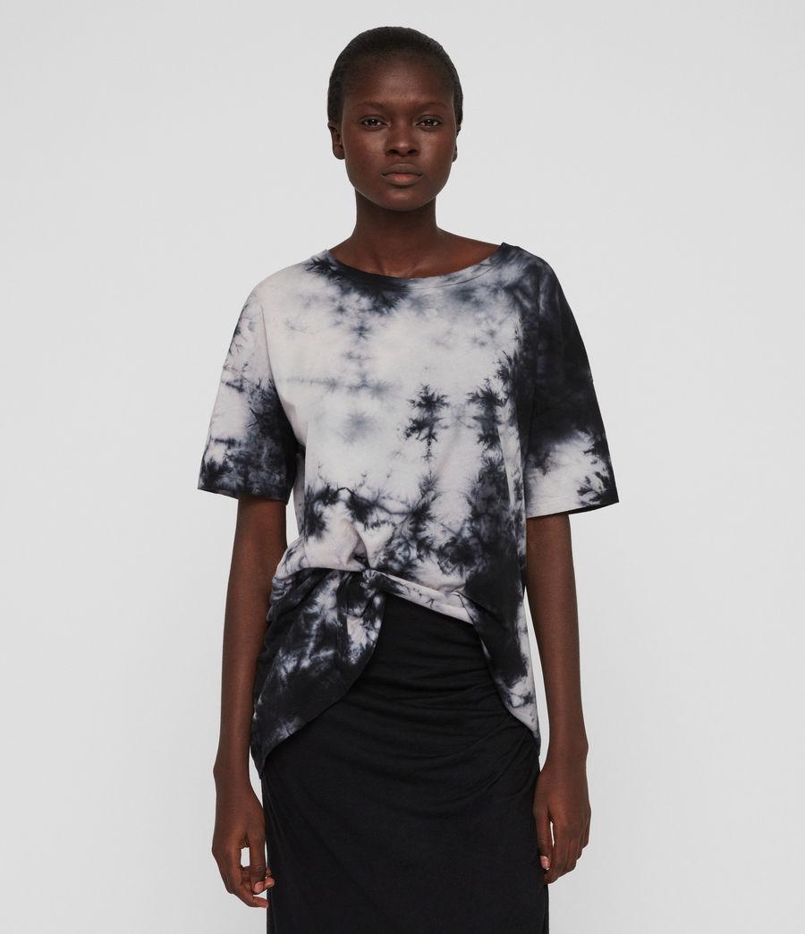 Damen Dyetie Cori T-Shirt (ink_blue_pale_grey) - Image 1