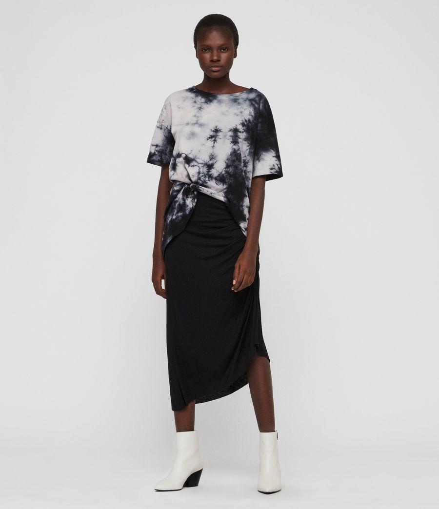Damen Dyetie Cori T-Shirt (ink_blue_pale_grey) - Image 2