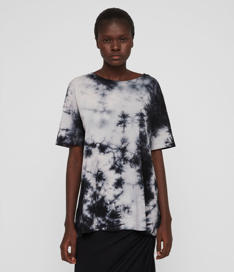 Damen Dyetie Cori T-Shirt (ink_blue_pale_grey) - Image 4