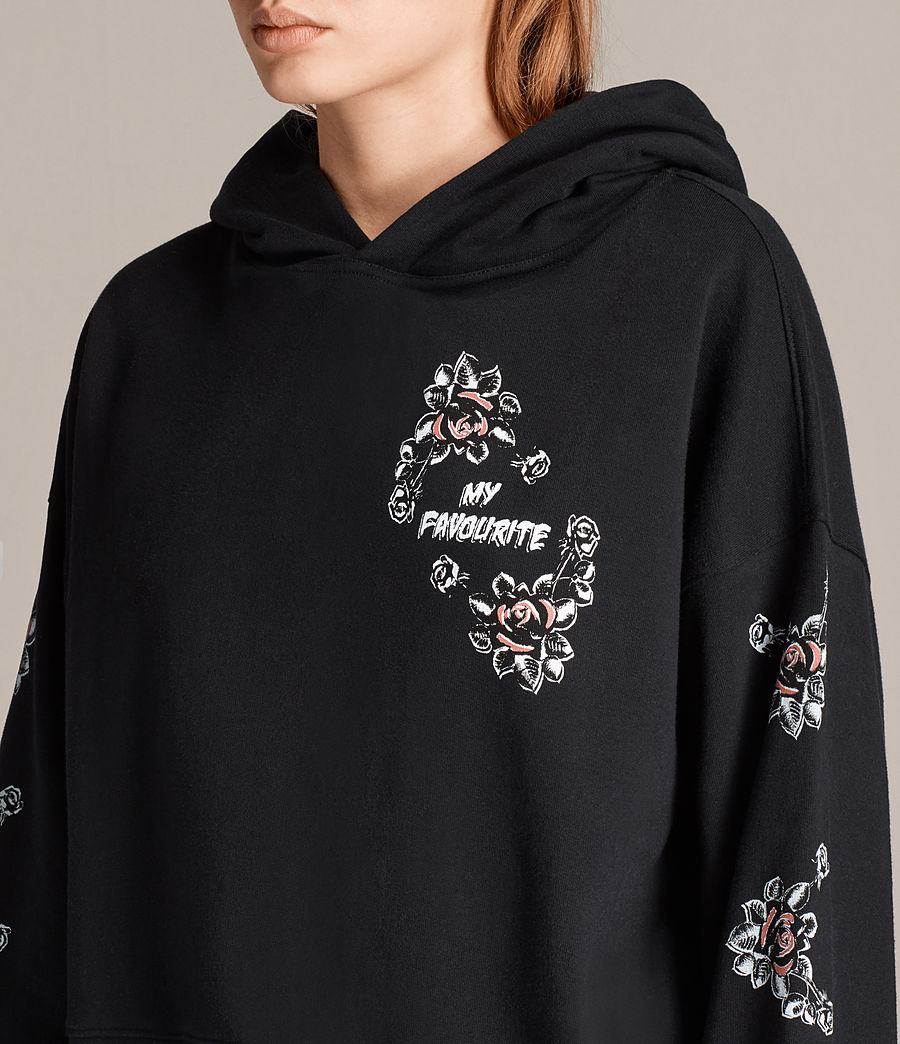 Mujer Sudadera con capucha Fave Joyce (black) - Image 2
