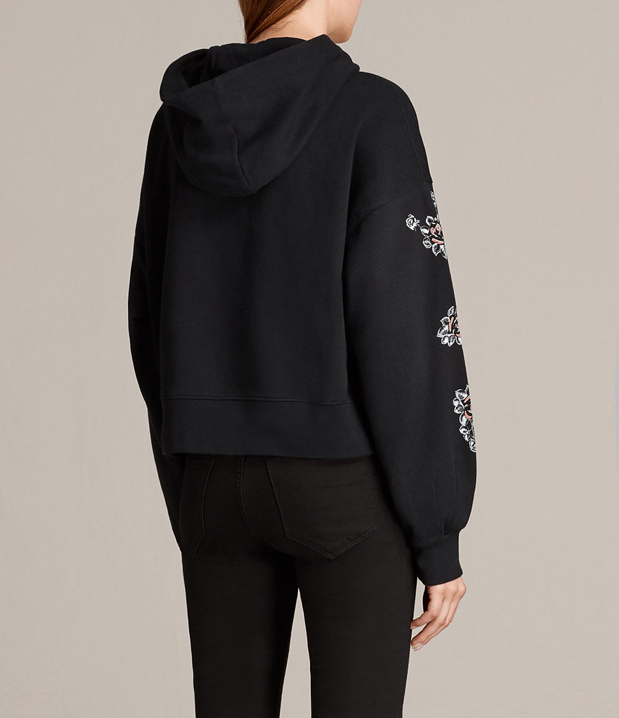 Mujer Sudadera con capucha Fave Joyce (black) - Image 4