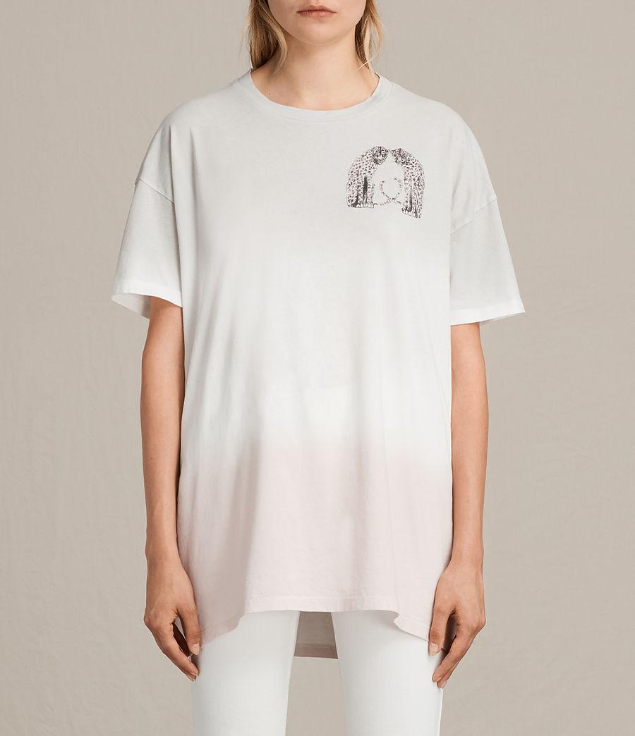 Womens Cheetah Cori Tee (chalk_white) - Image 1