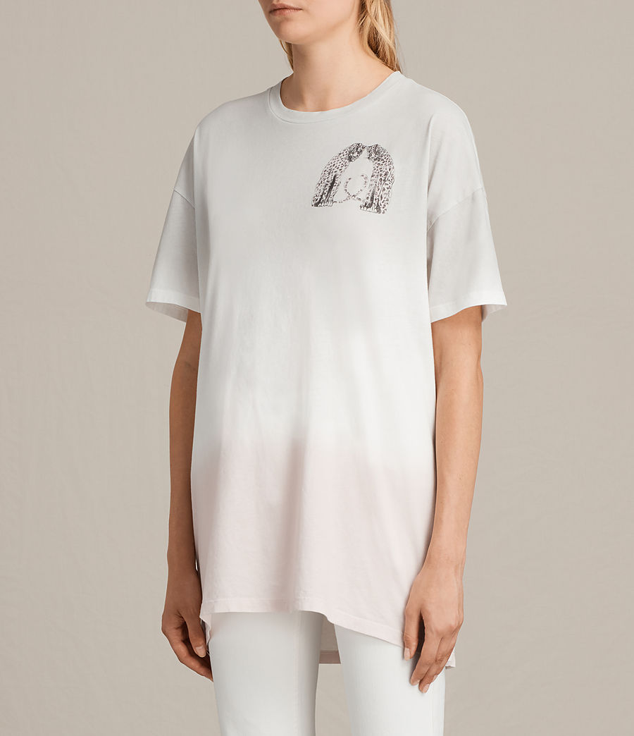 Womens Cheetah Cori Tee (chalk_white) - Image 3